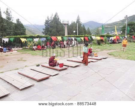 Bhutanese People Sit Back And Relax