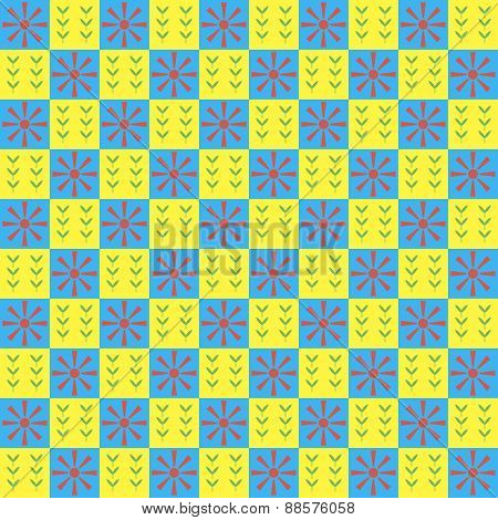 Bright Spring Seamless Geometric Pattern