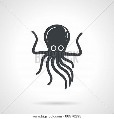Octopus black vector icon