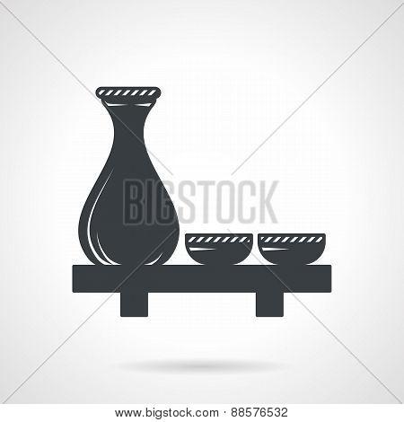 Sake black vector icon