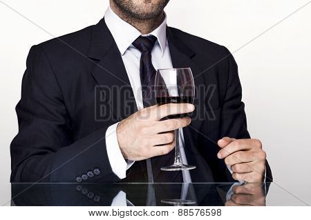 Man and wine