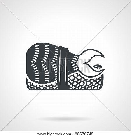 Sushi bento black vector icon