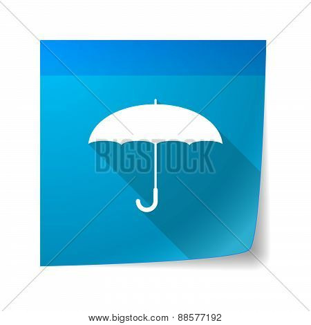 Sticky Note Icon With An Umbrella