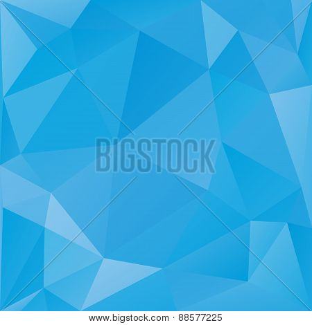 Abstract triangular vector background blue color