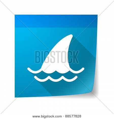 Sticky Note Icon With A Shark Fin