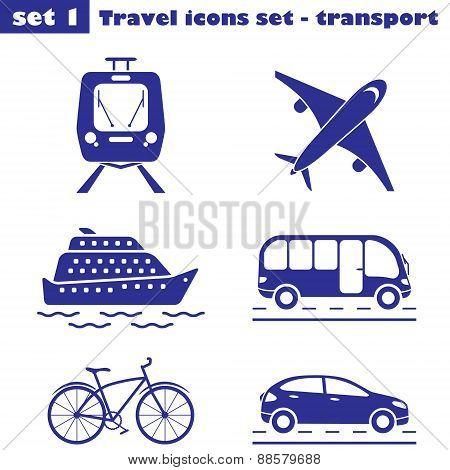 Travel Icons Set  - Transport
