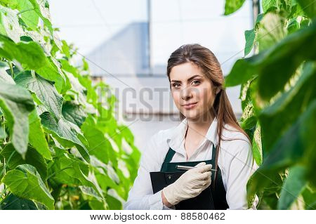 Female bio researcher
