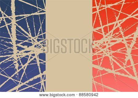 Worn France Flag