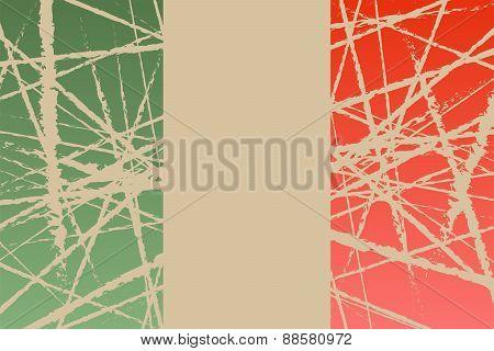 Worn Italy Flag