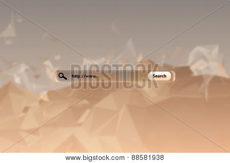 Search engine against beige abstract design