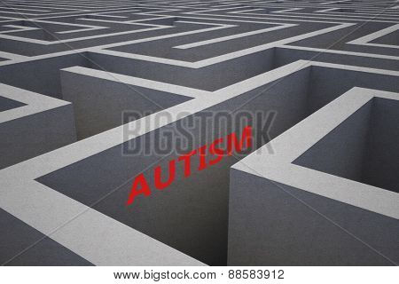 autism against difficult maze puzzle