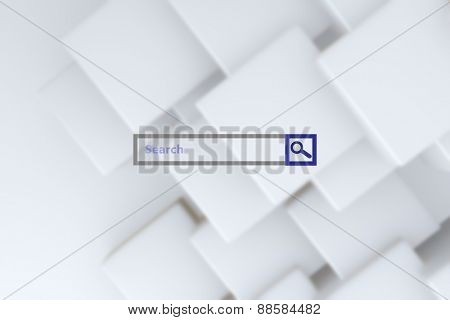 Search engine against white tile design