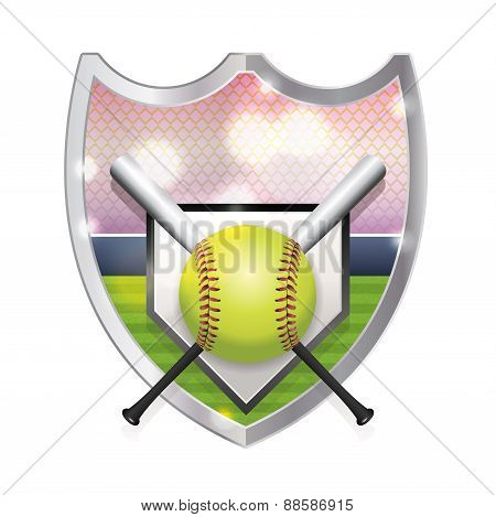 Softball Emblem Illustration