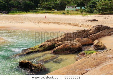 Empty Beach Praia Do Cepilho, Trindade, Paraty, Brazil