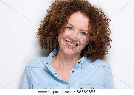 Cheerful Middle Aged Woman Smiling