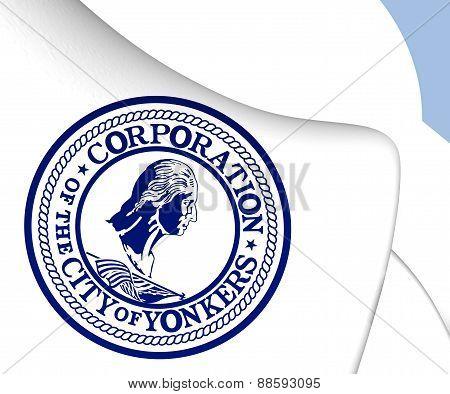 Flag Of Yonkers, Usa.