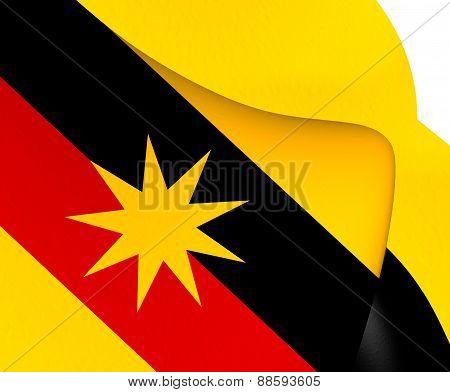 Flag Of Sarawak, Malaysia.