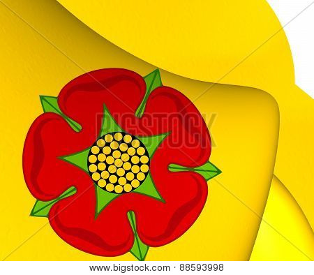 Flag Of Lancashire, England.