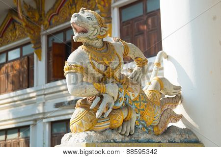 Sculpture at a Buddhist temple