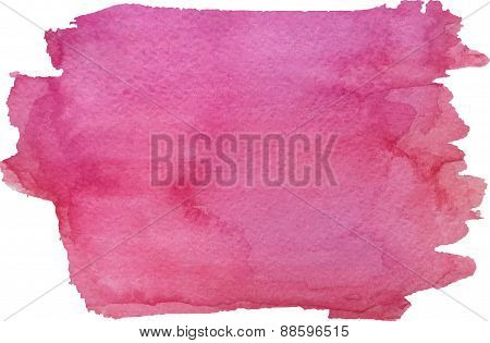 Abstract watercolor painted by hand magenta color texture