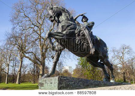Physical Energy Statue In Kensington Gardens In London