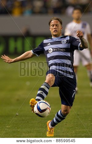 CARSON, CA. - APR 18: Marcel de Jong in action during the L.A. Galaxy game against Sporting Kansas City on April 18, 2015 at the StubHub Center in Carson, California.