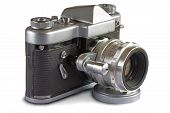 image of mm  - Soviet 35 mm Film SLR Photo Camera with automated diaphragm option  - JPG