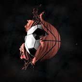 picture of transformation  - Transformation of the soccer ball in basketball - JPG