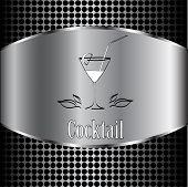 stock photo of cocktail menu  - beautiful cocktail glass design vector menu background - JPG