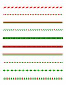 image of candy cane border  - Collection of simple christmas themed borders  - JPG