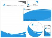 stock photo of letterhead  - Set of corporate identity items easy to customize letterhead envelope CD DVD cover and business cards - JPG