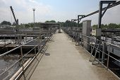 stock photo of wastewater  - Wastewater Treatment Plant - JPG