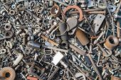 pic of bolt  - A lot of old bolts and nuts - JPG