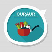 picture of stew pot  - Kitchenware Pot Flat Icon With Long Shadow - JPG