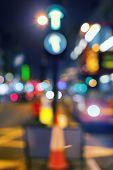image of london night  - Transport and paint lights of the big city night illumination - JPG
