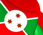 picture of burundi  - 3D Flag of the Burundi - JPG