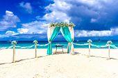 image of wedding arch  - beach wedding venue - JPG