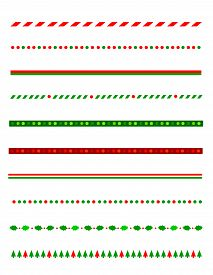 foto of candy cane border  - Collection of simple christmas themed borders  - JPG