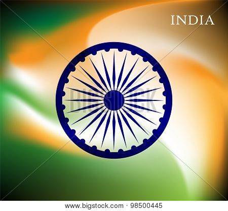 Abstract image of Indian flag holiday people