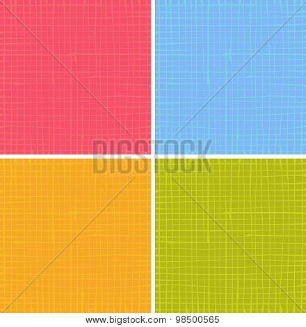 Liquid Organic Stripe Grid Pattern In Multiple Color