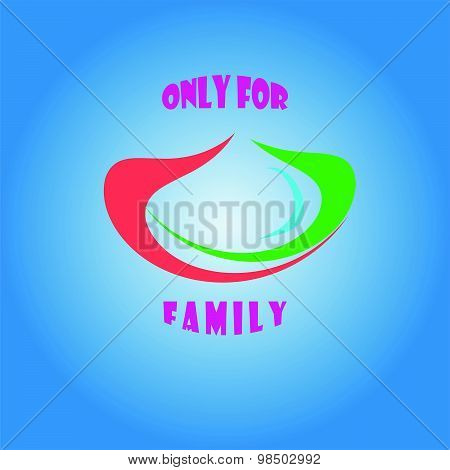 Vector Of Only For Family Symbol Logo