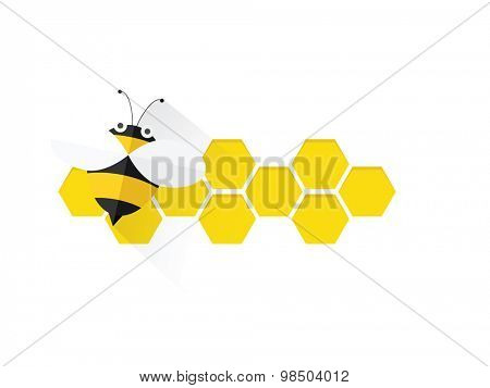 bee on honey comb