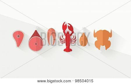 Meat products and seafood