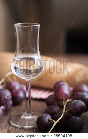 Grappa With Grape And Bread