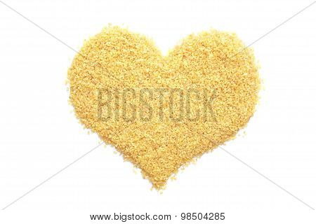 Bulgur Wheat In A Heart Shape