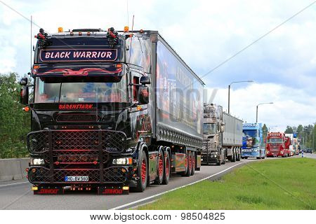 Scania Black Warrior In Truck Convoy