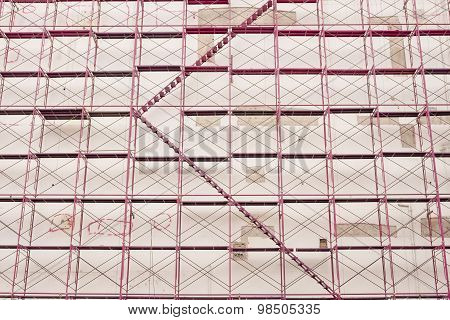 Construction Site And Building Structure Background