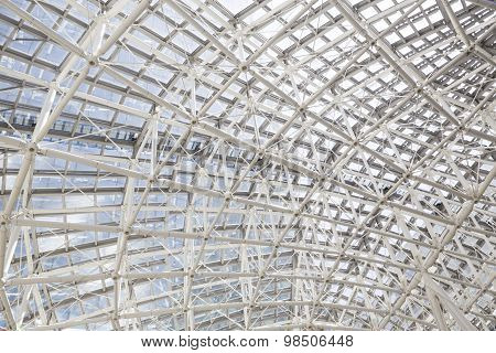 Building Construction Of Metal Steel Framework Outdoors
