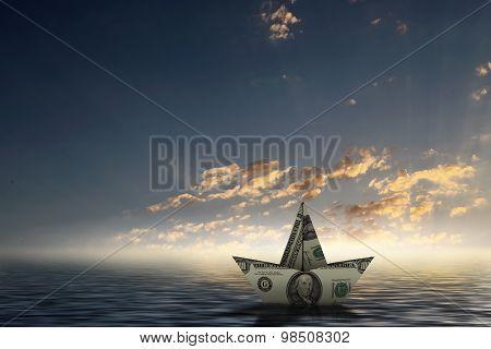 Dollar ship in water