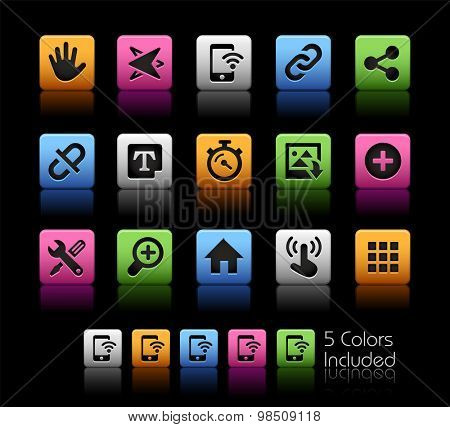 System Icons Interface // ColorBox Series ---- The Vector file includes 5 color versions for each icon in different layers --